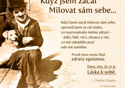 Chaplin o sebelásce