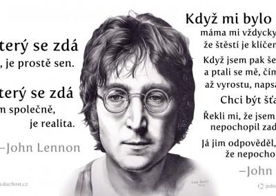 2 citáty Johna Lennona