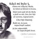 John Lennon citát štěstí