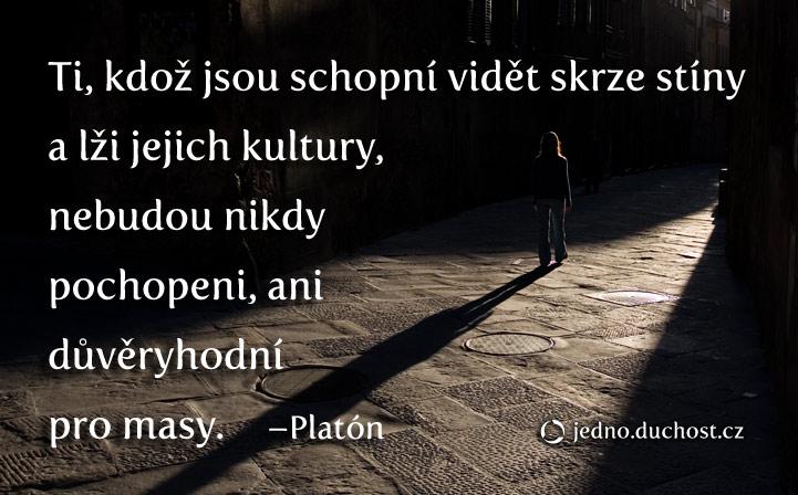 Platón – stín lži