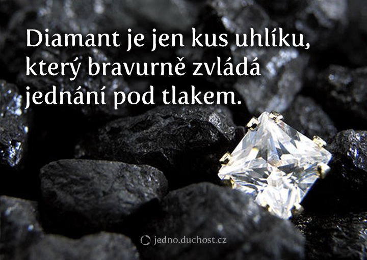 Diamant je jen uhlík…