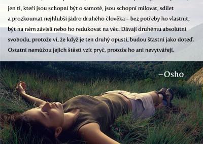 Osho – být sám