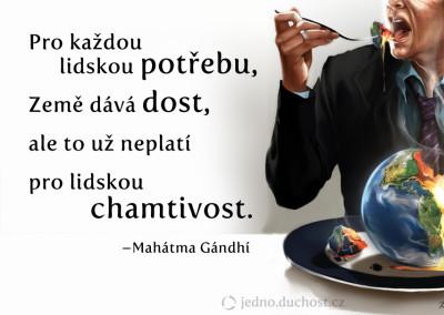 Gándhí o chamtivosti
