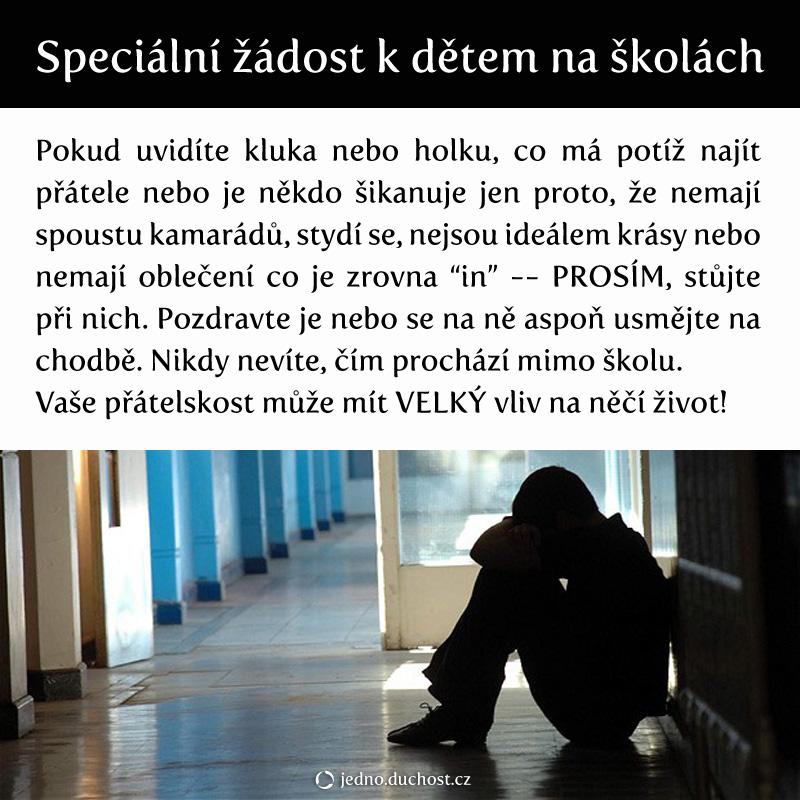 Žádost ke školákům