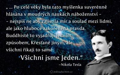Tesla – Vědomí Jednoty
