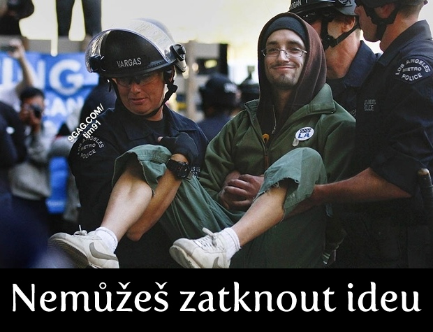 Nelze zatknout ideu