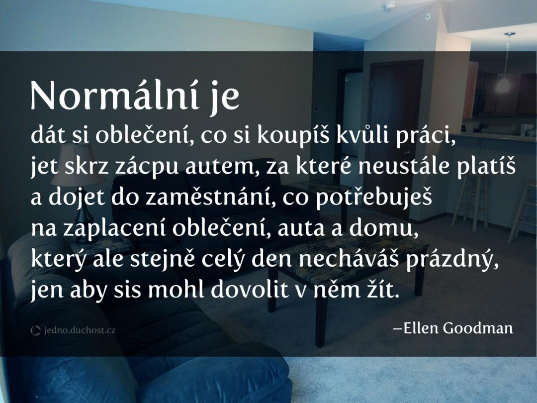 Normální je…