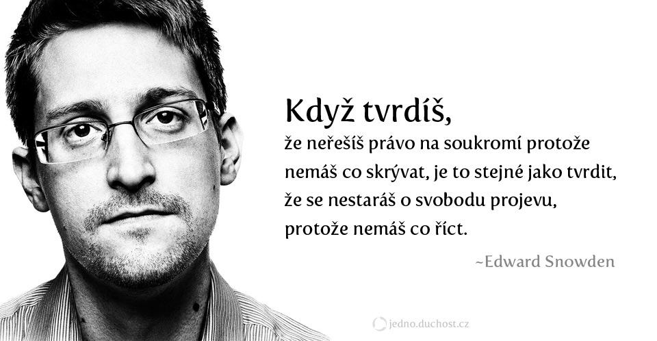 Snowden o soukromí