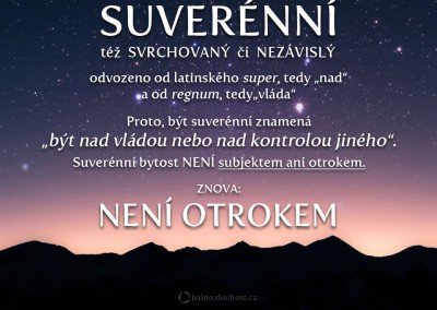 Být suverénní